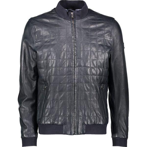1506d2f874644 Skórzana kurtka w kolorze granatowym - Niebieskie kurtki męskie marki Kurtki  skórzane