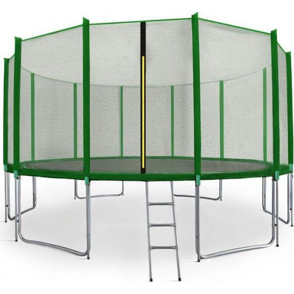 Aga Sport Pro Trampolina ogrodowa 500cm 16ft z siatką zewnętrzną, drabinką i torbą na buty Blue