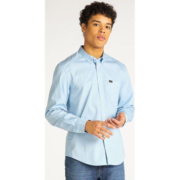 Koszula Lee L880JKNR Niebieskie koszule męskie Lee, l, bez  CW2ki