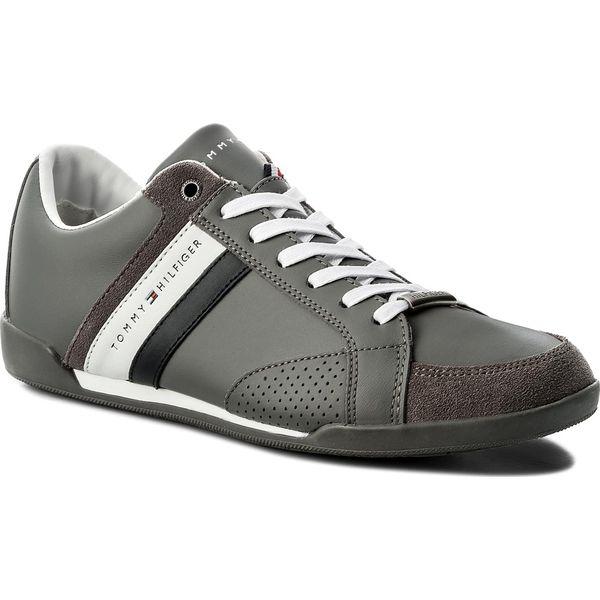3f01c3b00509e Sneakersy TOMMY HILFIGER - Corporate Material Mix Cupsole FM0FM01532 Steel  Grey 039 - Szare buty sportowe na co dzień męskie marki Tommy Hilfiger
