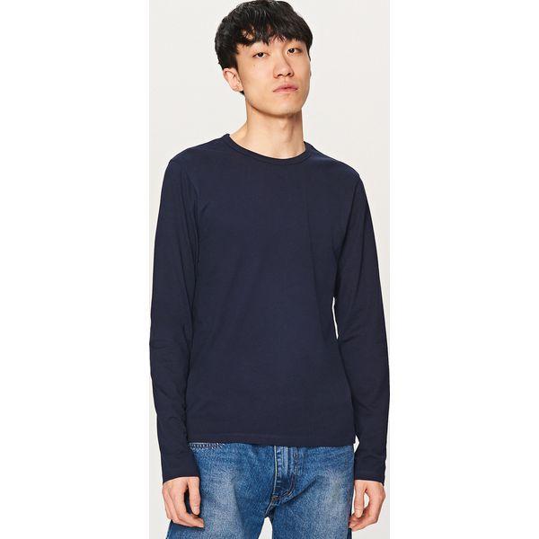 575f9c8e12241 Koszulka z długim rękawem - Granatowy - T-shirty męskie marki Reserved. W  wyprzedaży za 14.99 zł. - T-shirty męskie - T-shirty i koszulki męskie -  Odzież ...