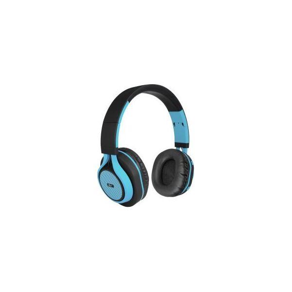 Słuchawki nauszne ART AP B04 BT z mikrofonem Czarno niebieski