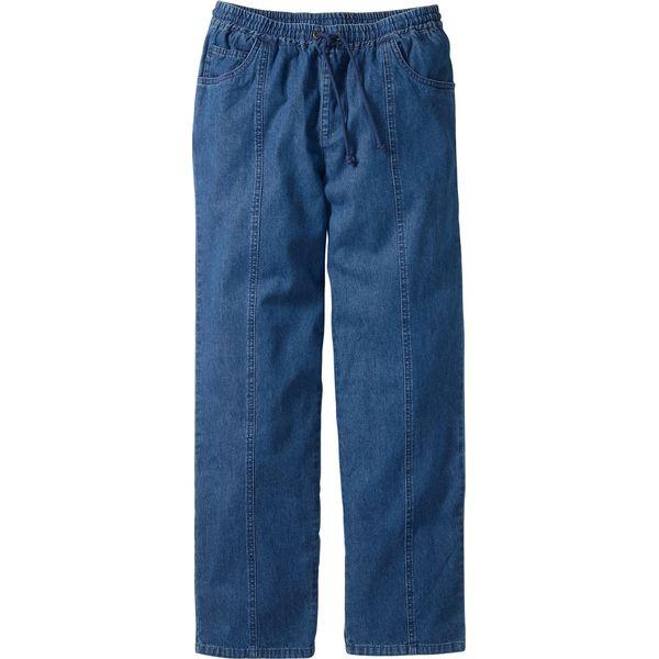 813bec9885698f Spodnie z gumką w talii Classic Fit Straight bonprix niebieski ...