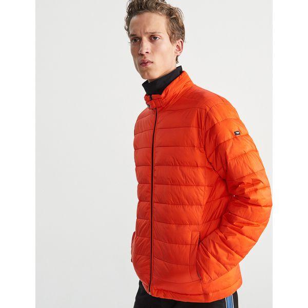 67159ce71628b Pikowana kurtka ze stójką - Pomarańczo - Kurtki męskie marki ...