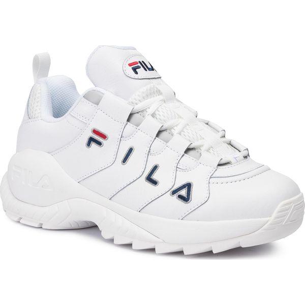 Białe obuwie męskie Fila, bez ramiączek, bez kaptura