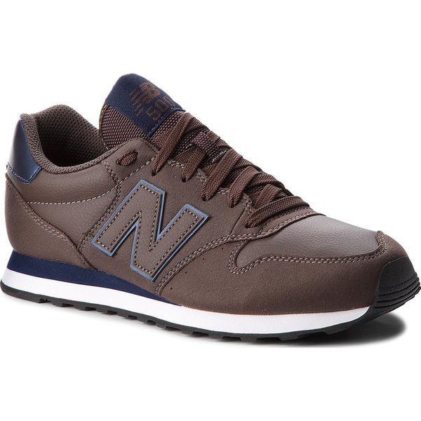 7a0d588f38 Sneakersy NEW BALANCE - GM500DBN Brązowy