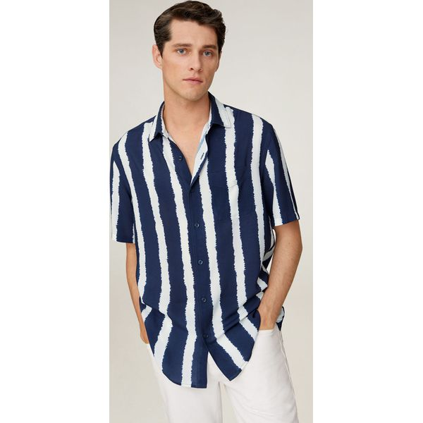 Mango Man Koszula Soho Niebieskie koszule męskie Mango  FWAYW