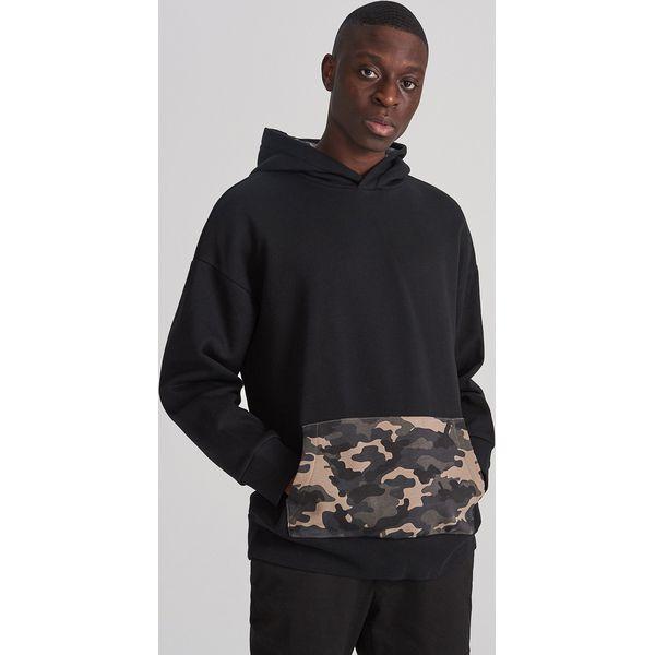 Bluza kangurka z kapturem Czarny
