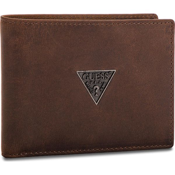 1c397a0721ce1 Duży Portfel Męski GUESS - SM2500 LEA20 BRO - Brązowe portfele ...
