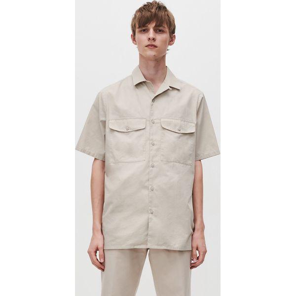 Koszula z kieszeniami Beżowy Brązowe koszule męskie  Pi7Zv