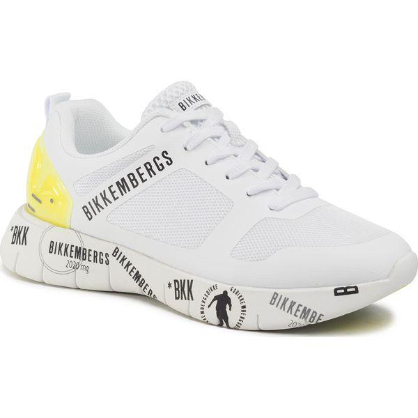 Sneakersy BIKKEMBERGS Flavio B4BKM0089 WhiteYellow Fluo