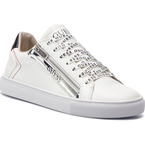 Młodzieńczy Sneakersy GUESS - FM5LLO LEA12 WHITE - Buty sportowe na co dzień OV65