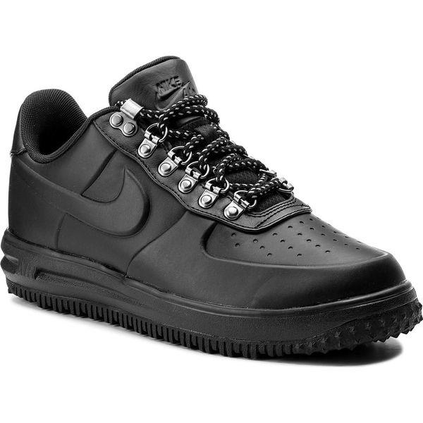 best service 66fc7 6b5b4 Buty NIKE - Air Force 1 Lf1 Duckboot Low AA1125 001 BlackBlackBlack -  Czarne buty sportowe na co dzień męskie marki Nike, z materiału.
