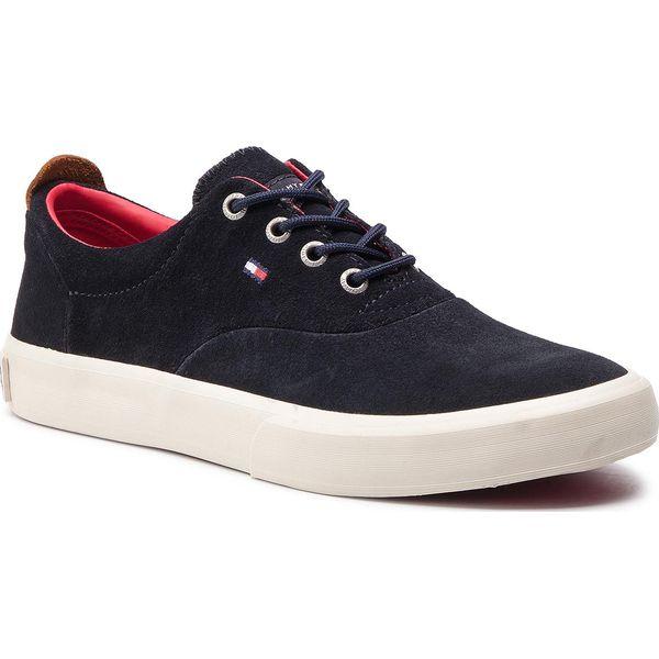 6202af9dc0304 Tenisówki TOMMY HILFIGER - Core Thick Suede Sneaker FM0FM02050 ...