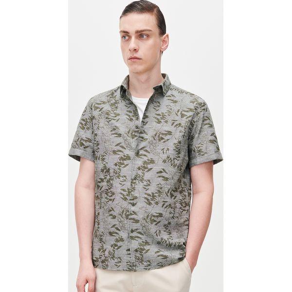 Wzorzysta koszula bez rękawów Zielony Zielone koszule
