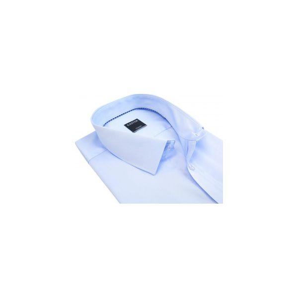 f6faaaf26cca03 Błękitna koszula z krótkim rękawem Kastor K71 - Niebieskie koszule ...