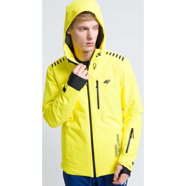 d7b8fc7b6 Kurtka narciarska męska KUMN161 - żółty cytrynowy - Kurtki ...