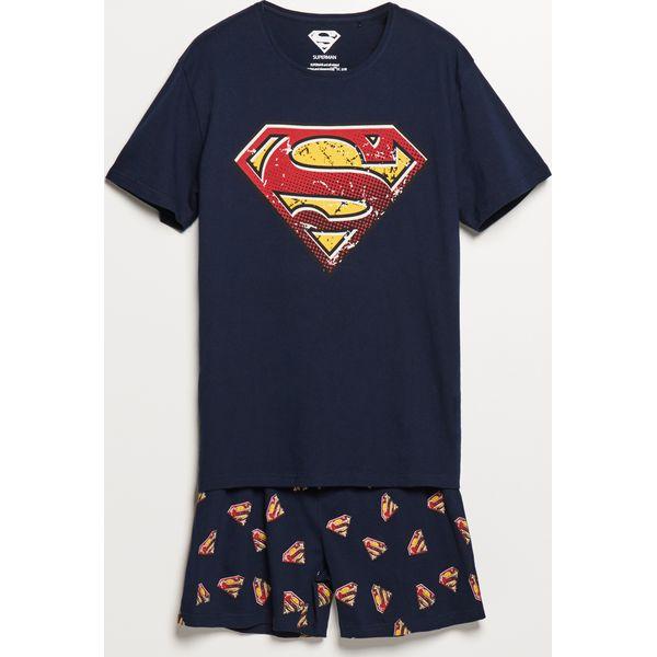 4b6d6f59d9c92e Piżama z szortami Superman - Granatowy - Niebieskie piżamy męskie ...