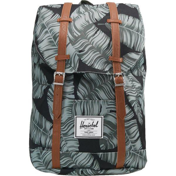38a520bd4d59f Herschel RETREAT Plecak black palm - Czarne plecaki męskie marki ...