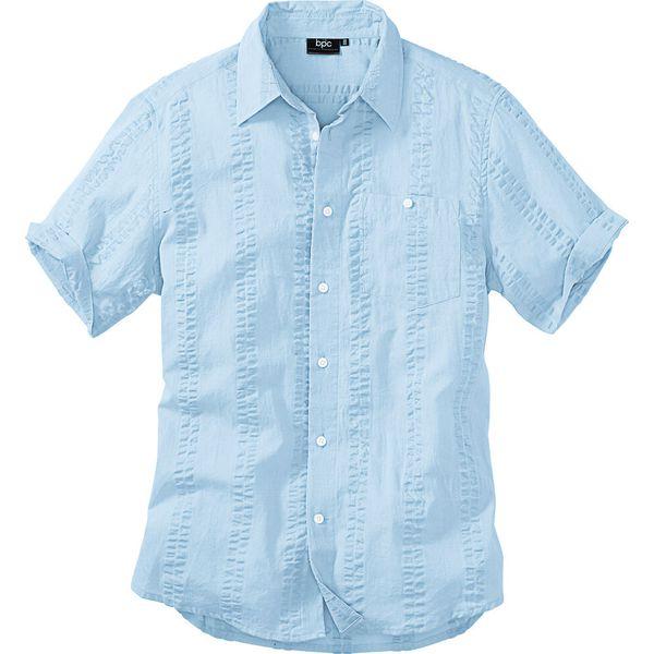 Koszula z kory, krótki rękaw turkusowy • 74.99 zł • bonprix