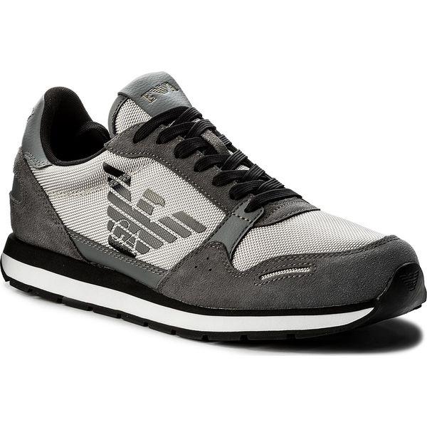 d0289a9abc60 Sneakersy EMPORIO ARMANI - X4X215 XL198 A927 Ash Ash Ash - Buty sportowe na  co dzień męskie marki Emporio Armani. W wyprzedaży za 439.00 zł.