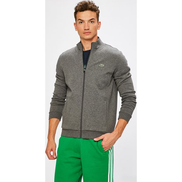 895375969c99ab Lacoste - Bluza - Szare bluzy rozpinane męskie marki Lacoste. W ...