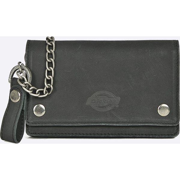 a4d36f3cd4360 Dickies - Portfel skórzany - Czarne portfele męskie marki Dickies, z ...