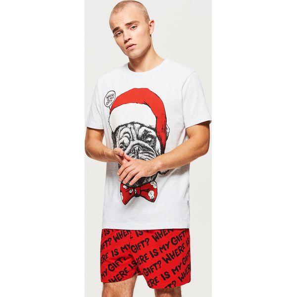4ad0c59675c77c Świąteczna piżama dwuczęściowa - Szary - Piżamy męskie marki Cropp ...