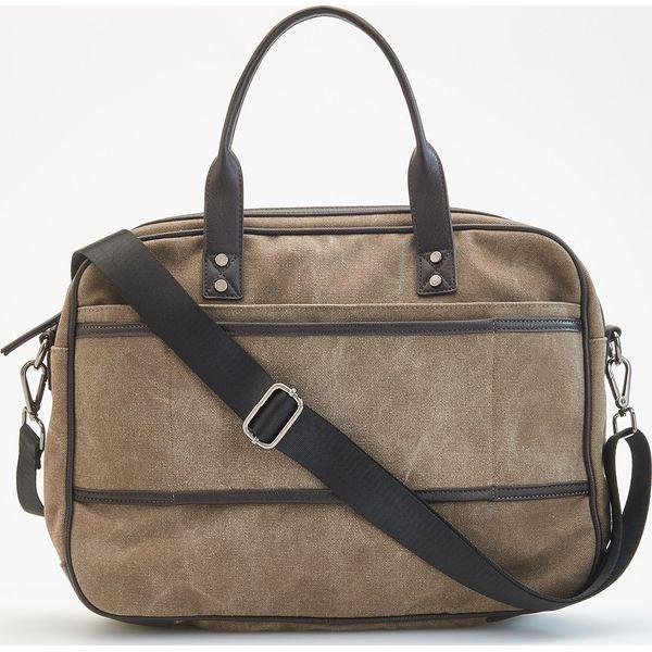 c027515ab13d7 Płócienna torba na ramię - Brązowy - Brązowe torby męskie na ramię ...