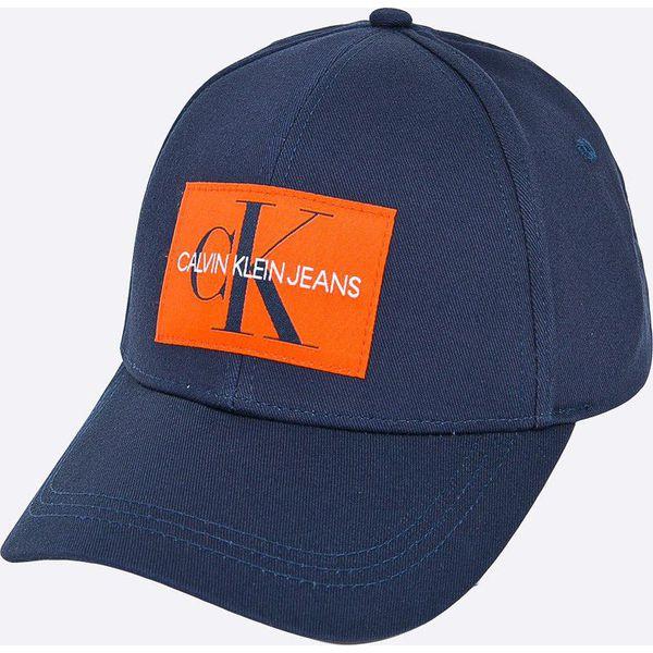 Calvin Klein Jeans - Czapka - Niebieskie czapki męskie marki Calvin ... bf21f5a1a6df