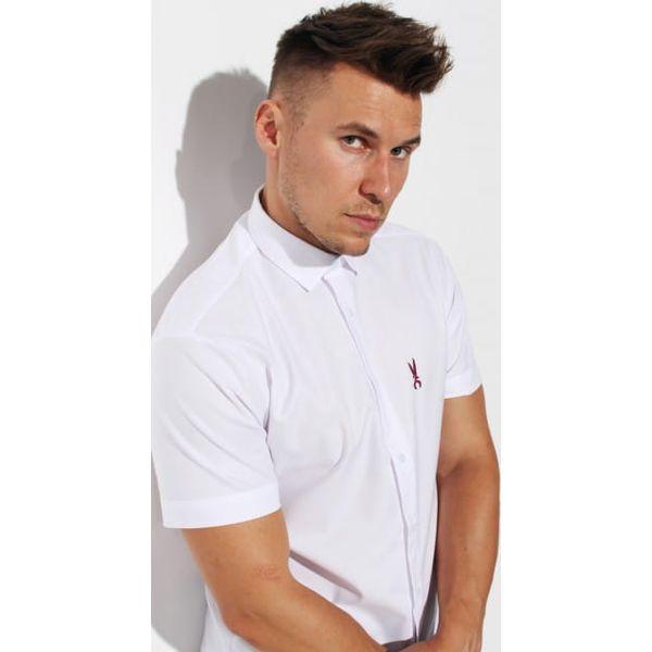 Koszula Edward Orlovski Krótki Rękaw Biała Black Białe