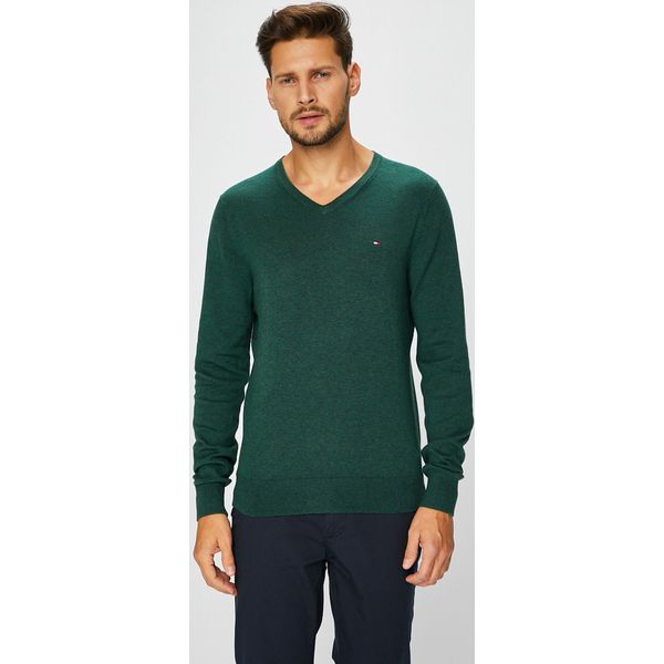 50407decbabc3 Tommy Hilfiger - Sweter - Czarne swetry męskie marki Tommy Hilfiger ...