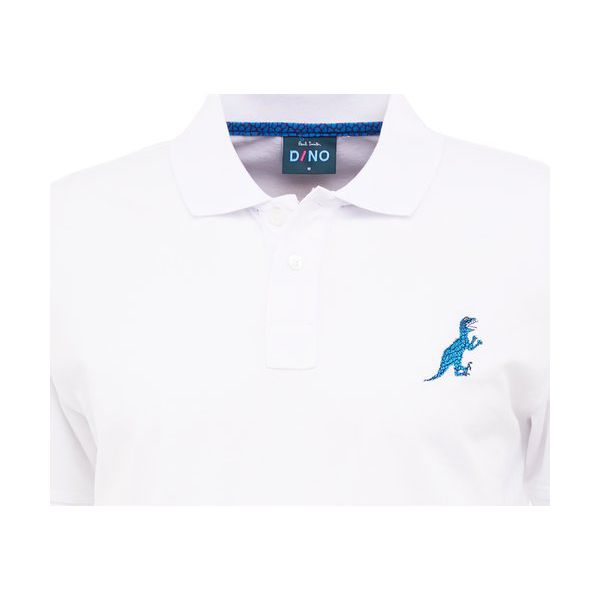 74421cfac PS by Paul Smith MENS REGULAR FIT DINO Koszulka polo white ...