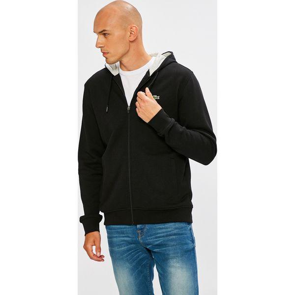 5ab3506f20128a Lacoste - Bluza - Szare bluzy rozpinane męskie Lacoste, l, z bawełny ...