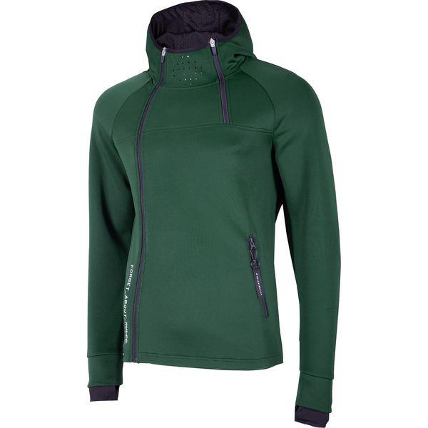 3384a6691 Bluza męska BLM212 - ciemna zieleń - Bluzy rozpinane męskie 4f. W ...