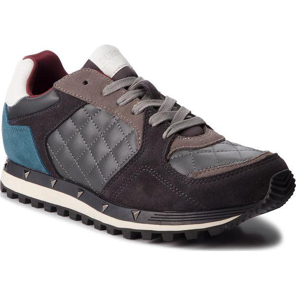 f848ee2d59e9d Sneakersy GUESS - FMCAL4 LEA12 GREY - Buty sportowe na co dzień ...