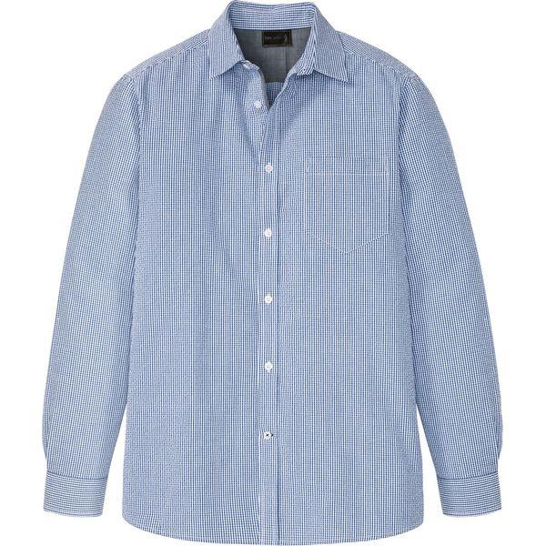 Koszula z lnem, długi rękaw jeżynowy melanż • 109.99 zł