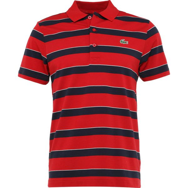 a0d416bd1 Lacoste Sport STRIPE Koszulka polo lighthouse red/navy blue/white ...