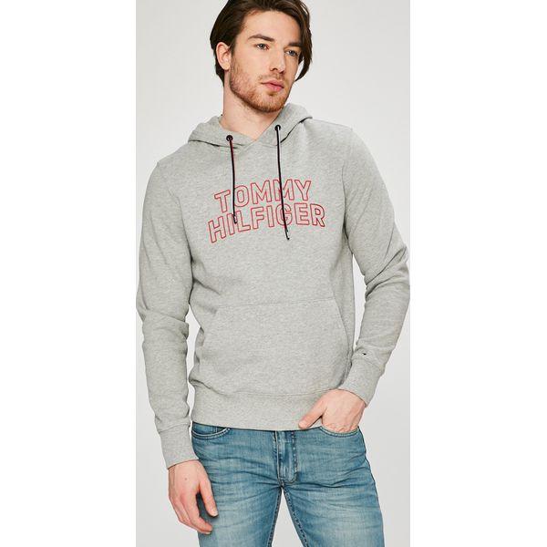 4f94034bffcca Tommy Hilfiger - Bluza - Szare bluzy nierozpinane męskie marki Tommy  Hilfiger