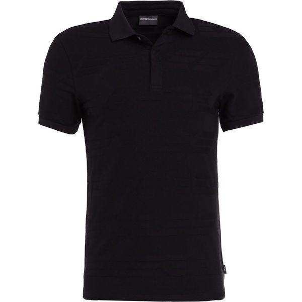 5ad1a88d7bd6d Emporio Armani Koszulka polo black - Czarne koszulki polo męskie ...