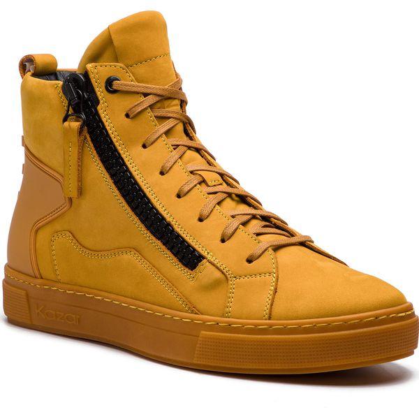 37dbe5e54f31c Sneakersy KAZAR - Leo 34532-26-08 Yellow - Buty sportowe na co dzień ...