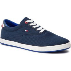 48cc892a12efa Tenisówki TOMMY HILFIGER - Essential Oxford Textile Sneaker FM0FM02052  Midnight 403. Trampki męskie marki Tommy