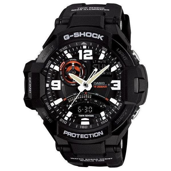 e421cfbdc5ebc8 Zegarek Casio Męski GA-1000-1AER G-Shock Kompas Termometr czarny ...