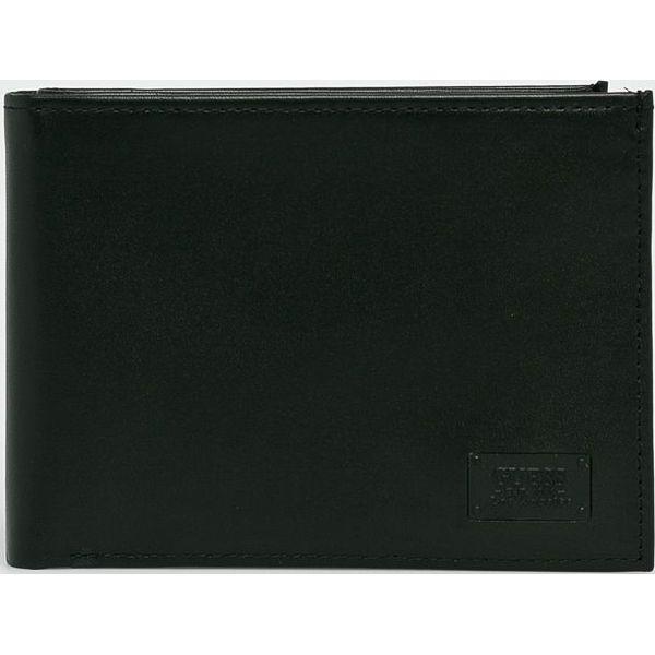ec5939bdf2ab7 Guess Jeans - Portfel skórzany - Czarne portfele męskie marki Guess ...