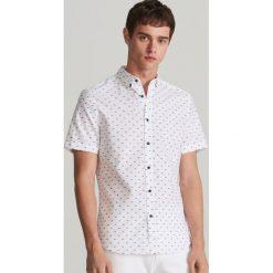 78343461880be5 Koszula z drobnym wzorem - Biały. Białe koszule męskie Reserved, m, bez  wzorów