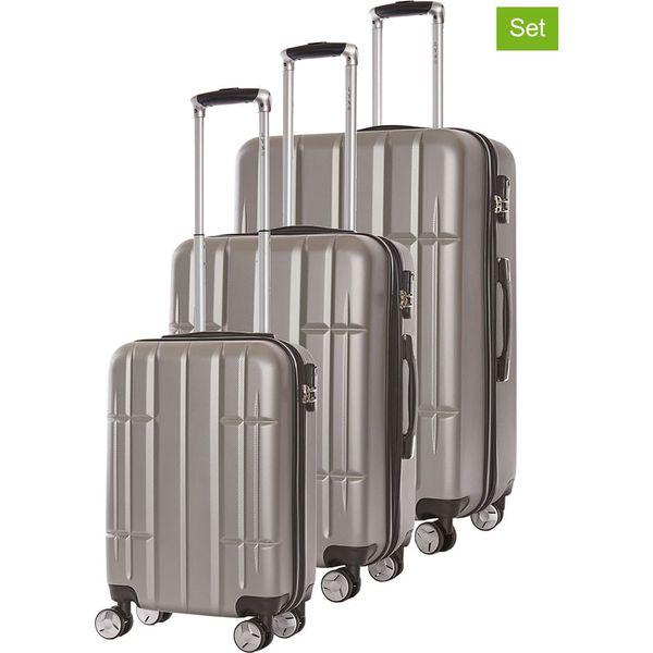 c9a12ac3e31a4 Walizki (3 szt.) w kolorze srebrnym - Szare walizki męskie marki Lys ...