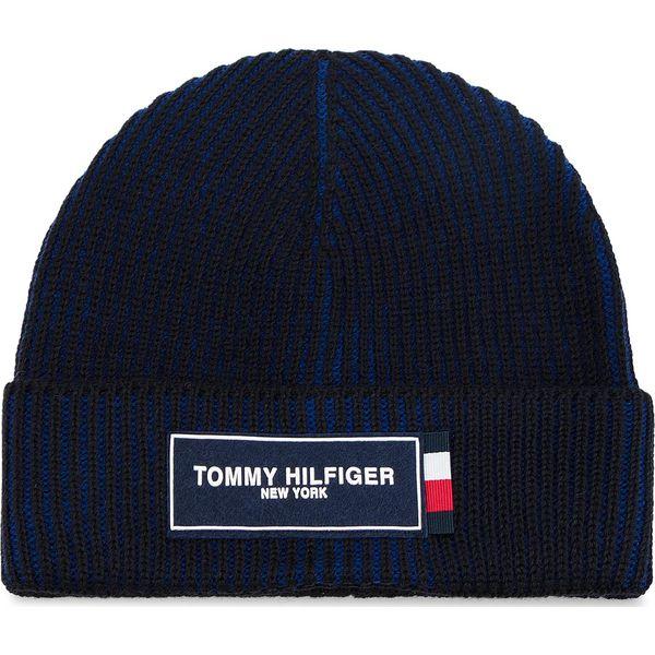 29e3ddf210080 Czapka TOMMY HILFIGER - Tommy Patch Beanie AM0AM03989 901 - Czapki ...