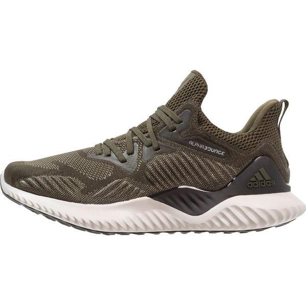 szczegóły dla tanie z rabatem różnie adidas Performance ALPHABOUNCE BEYOND Obuwie do biegania treningowe Night  Cargo/Core Black/Tech Beige