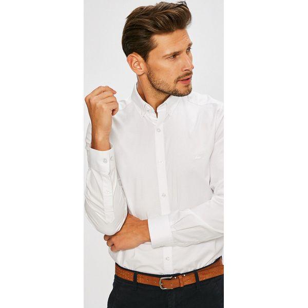 24efe98dc Lacoste - Koszula - Szare koszule męskie marki Lacoste, z bawełny ...