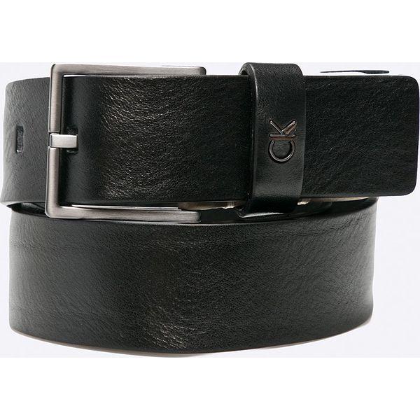 c1ed68335b071 Calvin Klein Jeans - Pasek skórzany. - Czarne paski męskie marki ...